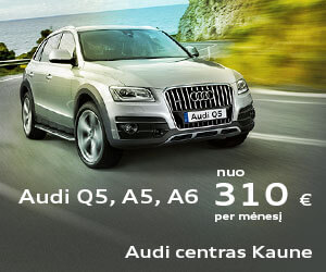 Audi nuo 310 Eur/mėn