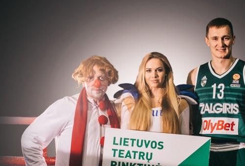 """""""Žalgirio"""" arenoje Lietuvos teatralai ir žalgiriečiai kartu minės Teatro dieną"""