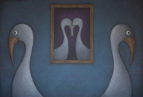 """Andriaus Butvilo pastelės paroda """"Mano paukščiai ir kitos istorijos"""""""