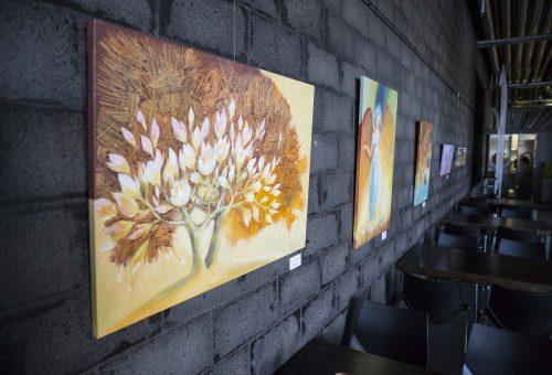 """Lidijos Kuklienės tapybos paroda """"Vėl norisi gyventi"""""""