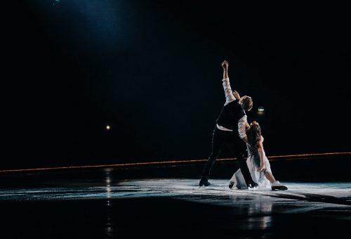 """""""Žalgirio"""" arenoje čiuožę M.Drobiazko ir P.Vanagas: """"Tai pati geriausia arena visame pasaulyje"""""""