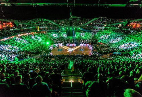 New hoops and LED screens installed, as Zalgirio Arena receives face lift