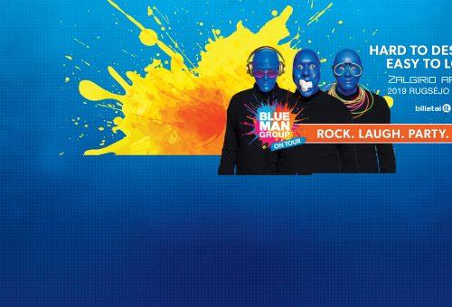 """Informacija dėl atšaukto renginio – """"BLUE MAN GROUP"""""""