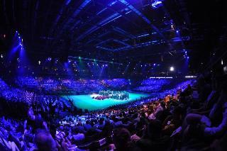 A solemn opening of Žalgiris Arena took place in Kaunas